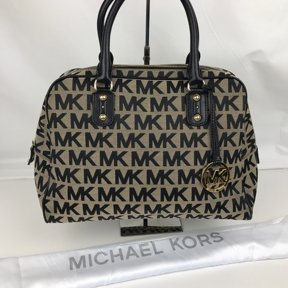 a9a302809f04a4 Michael Kors Signature Jacquard Satchel 38S2XMKS3J.  M_5b2ac56f2e14781bdb4ed91b. Other Bags ...
